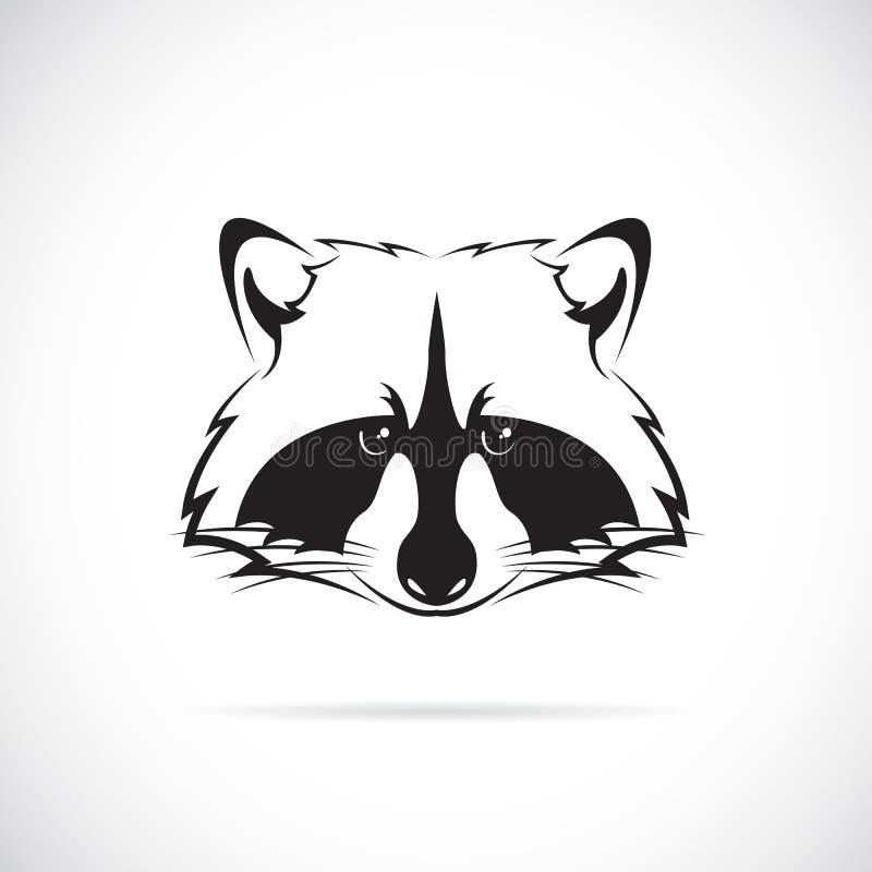 浣熊面孔的传染媒介图象 向量例证