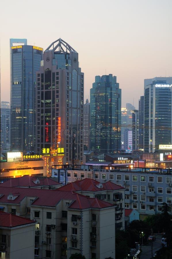 浦东上海中国地平线 库存照片