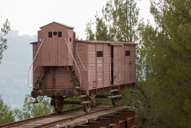 浩劫火车在浩劫历史博物馆 以色列 免版税库存图片