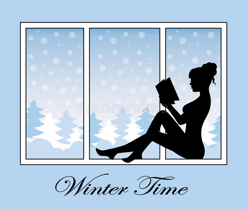 浪漫冬时 向量例证