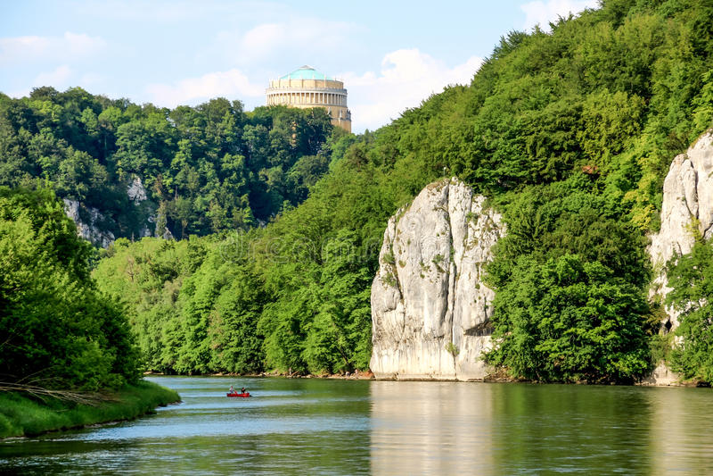 浪漫多瑙河峡谷 库存图片