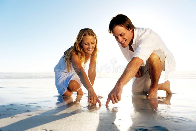 浪漫夫妇的重点 图库摄影