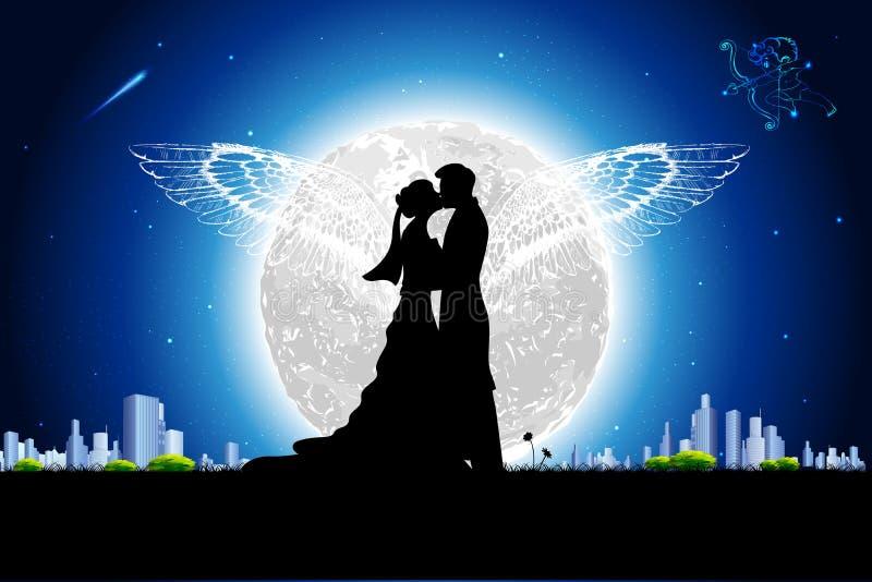 浪漫夫妇 皇族释放例证