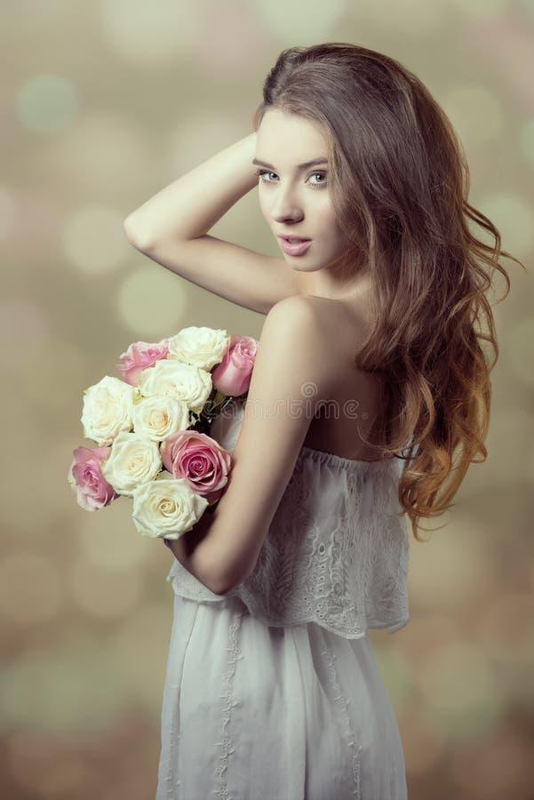 浪漫女孩 库存图片