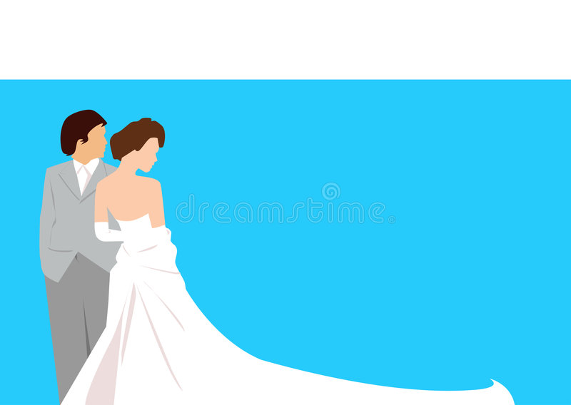 浪漫婚礼 皇族释放例证