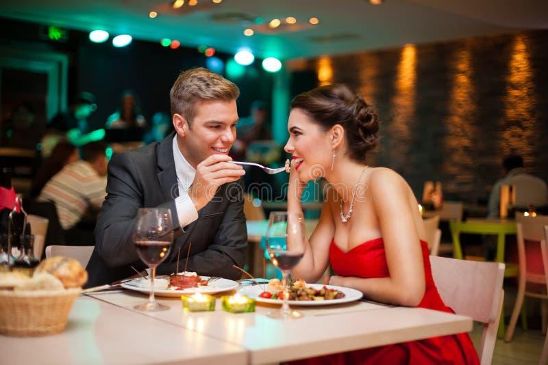 浪漫晚餐 免版税库存图片