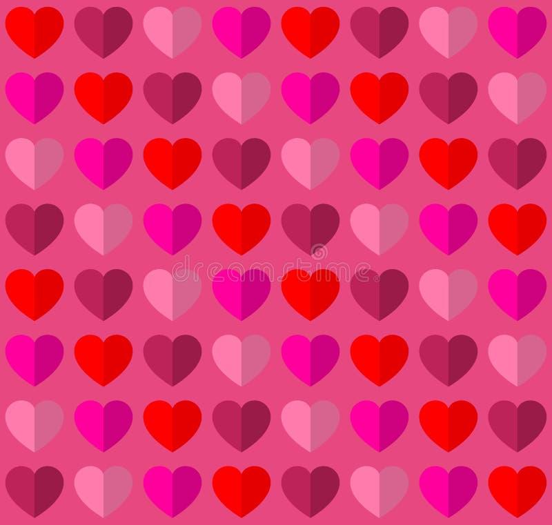 浪漫爱题材的华伦泰无缝的心脏 免版税图库摄影
