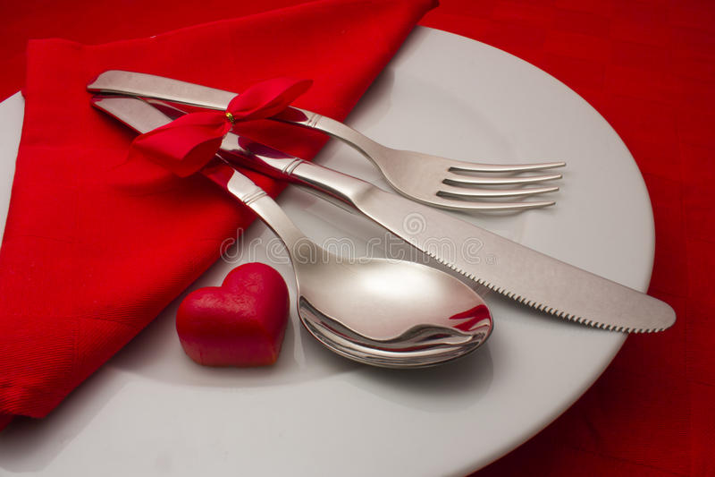 浪漫用餐 库存照片