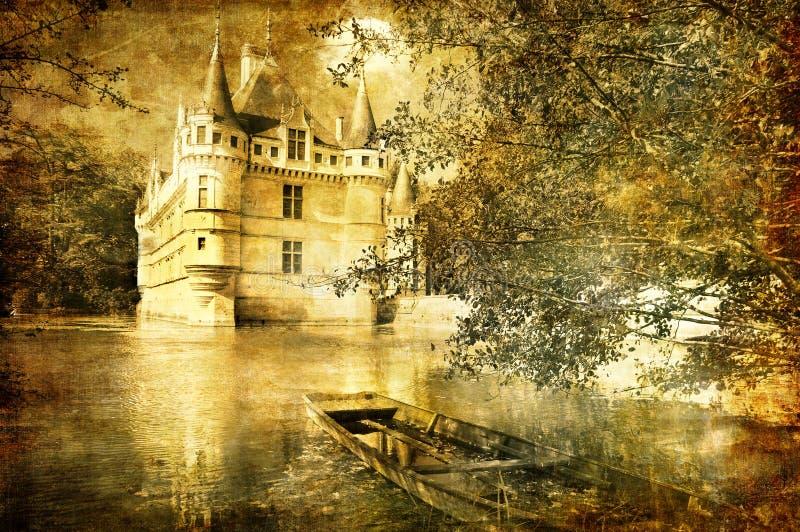 浪漫的城堡 皇族释放例证