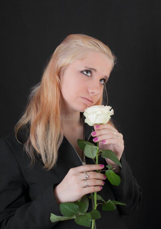 浪漫的女孩 库存图片