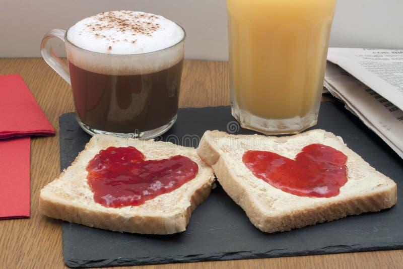 浪漫的早餐 免版税图库摄影