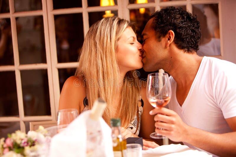 浪漫的膳食 库存图片
