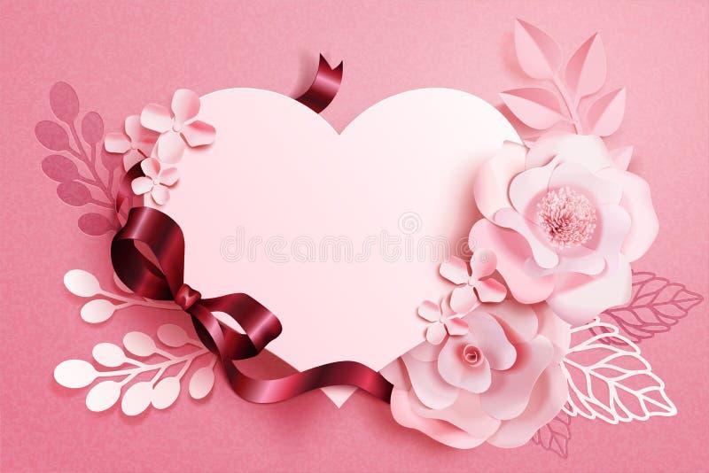 浪漫花卉纸艺术 库存例证