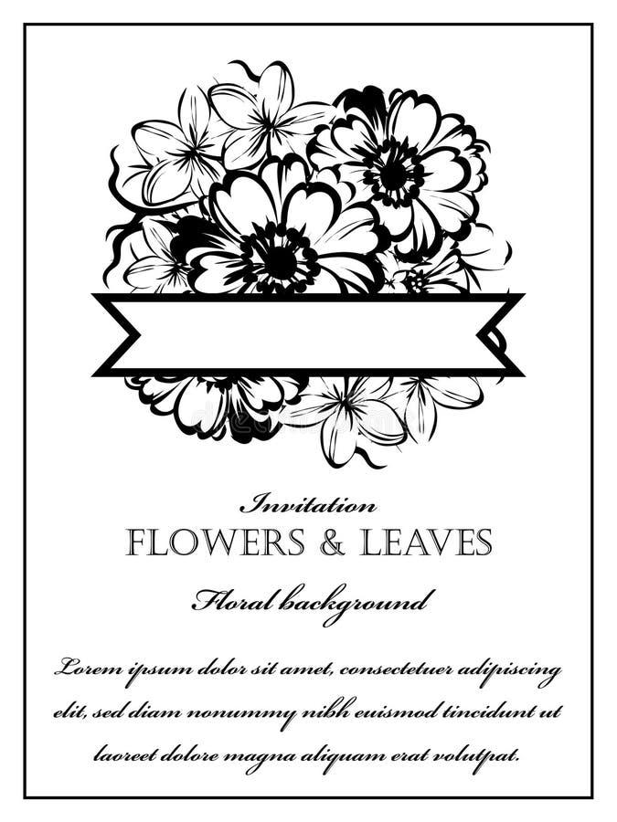 浪漫花卉邀请 免版税库存照片