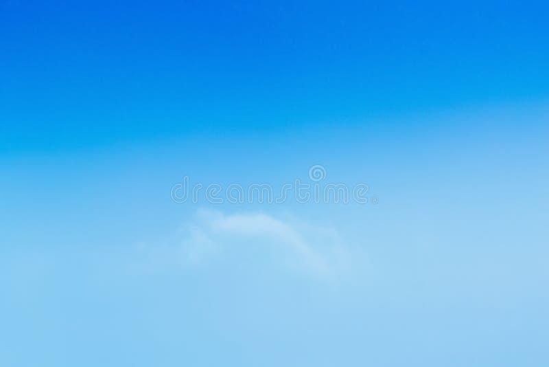 浪漫蓝天,自由风景 免版税图库摄影