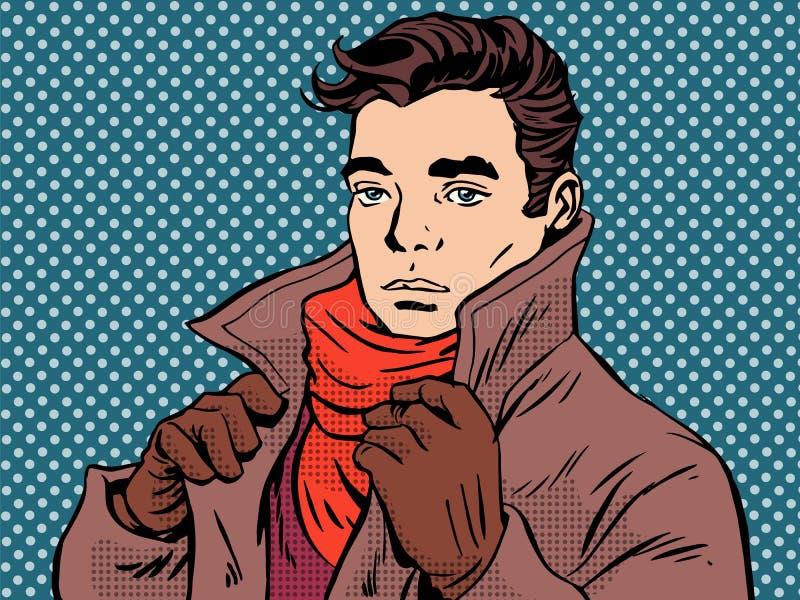 浪漫年轻人冷气候 向量例证