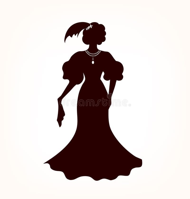 浪漫贵族妇女的图象 向量例证