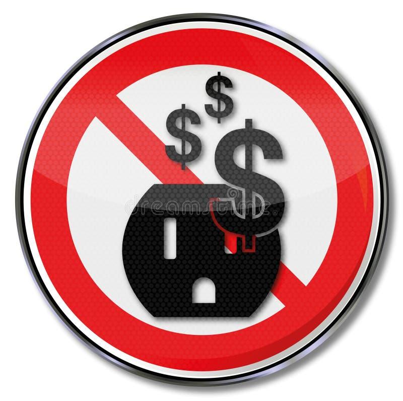 浪费与美国电源输出口的电 皇族释放例证
