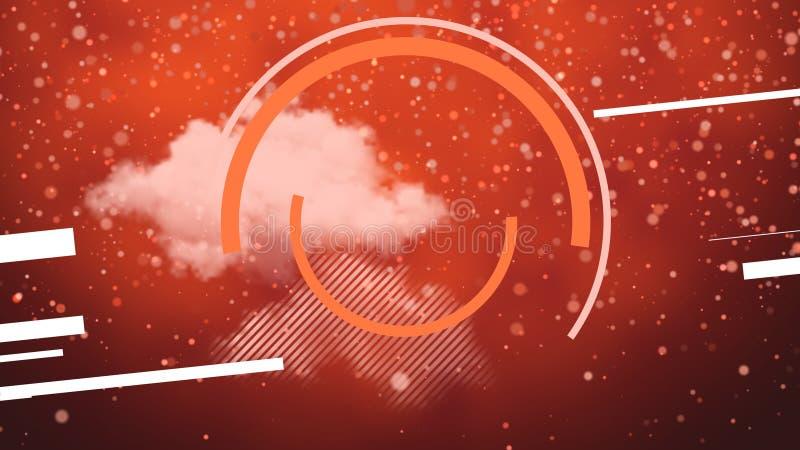 浮云、带复制空间的线条和圆 免版税图库摄影