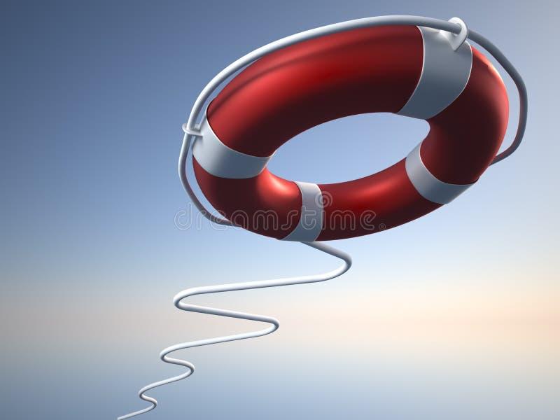 浮体生活 向量例证