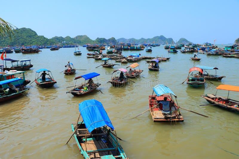 浮动渔场越南 免版税库存图片