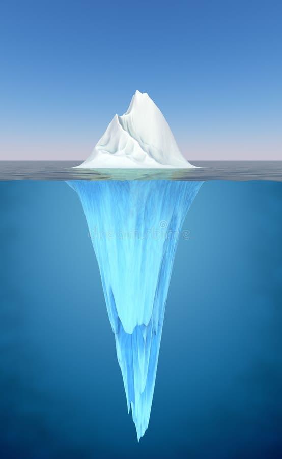 浮动的冰山水 库存例证