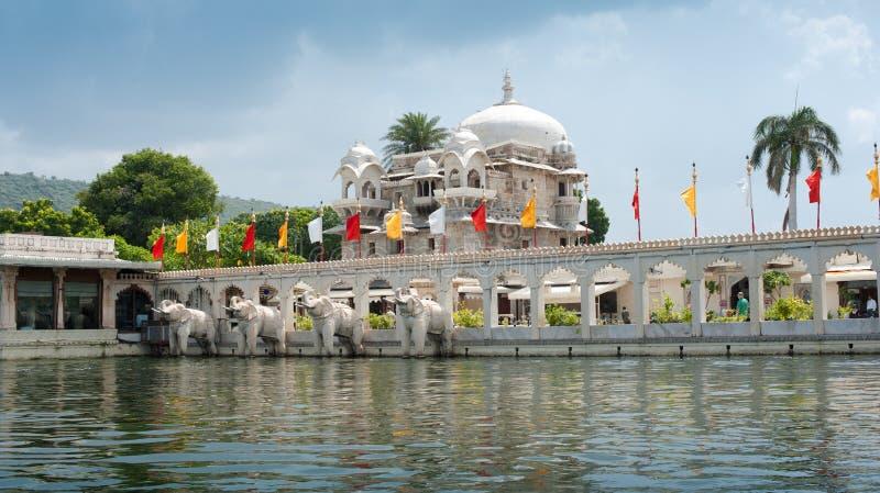 浮动的宫殿, Udaipur,印度 库存图片