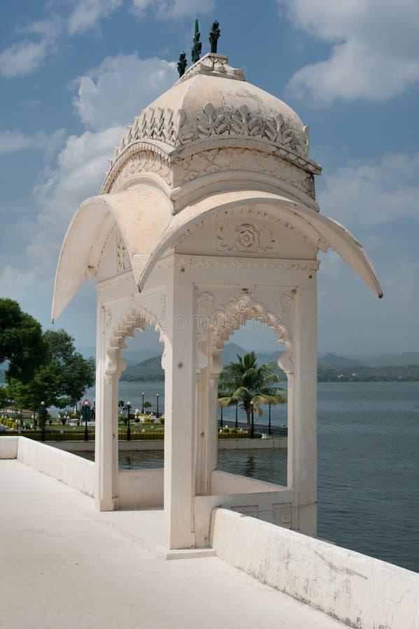浮动的宫殿, Udaipur,印度 库存照片