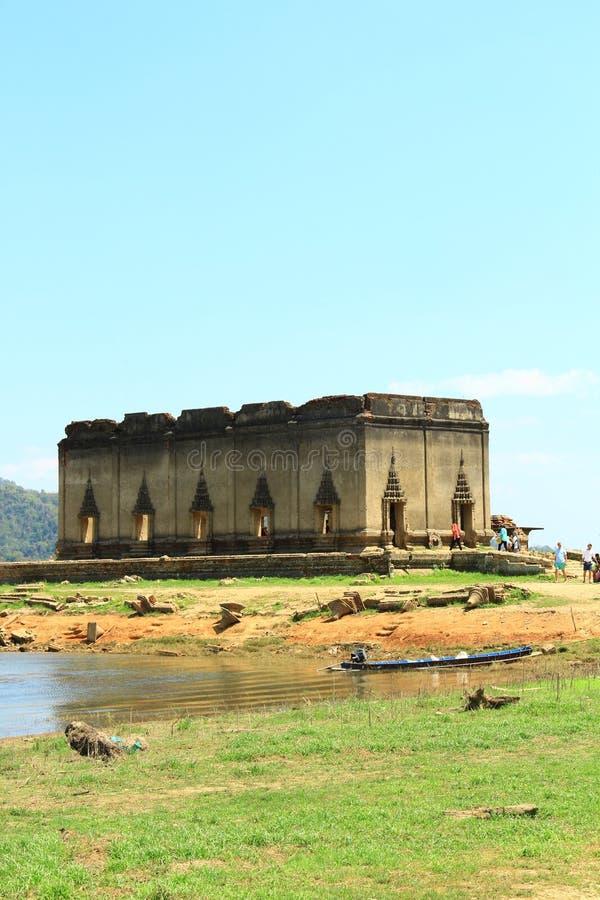 浮动的寺庙 库存照片