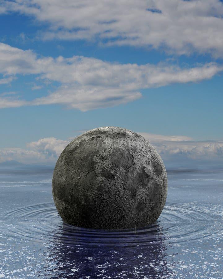 浮动的月亮 向量例证