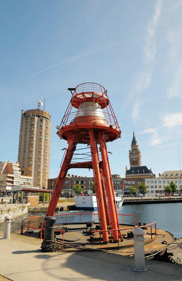 浮动的灯塔在Dunkerque 免版税库存照片