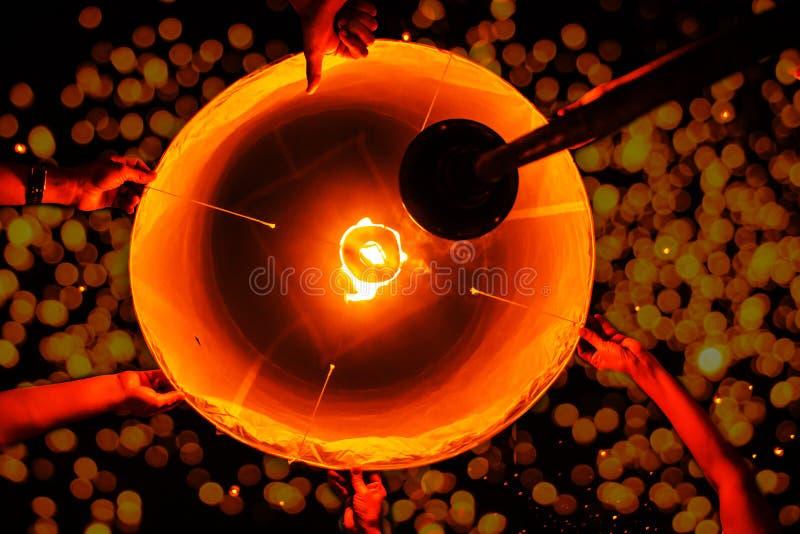 浮动的灯笼 免版税库存照片