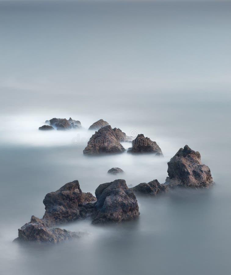 浮动的石头 图库摄影