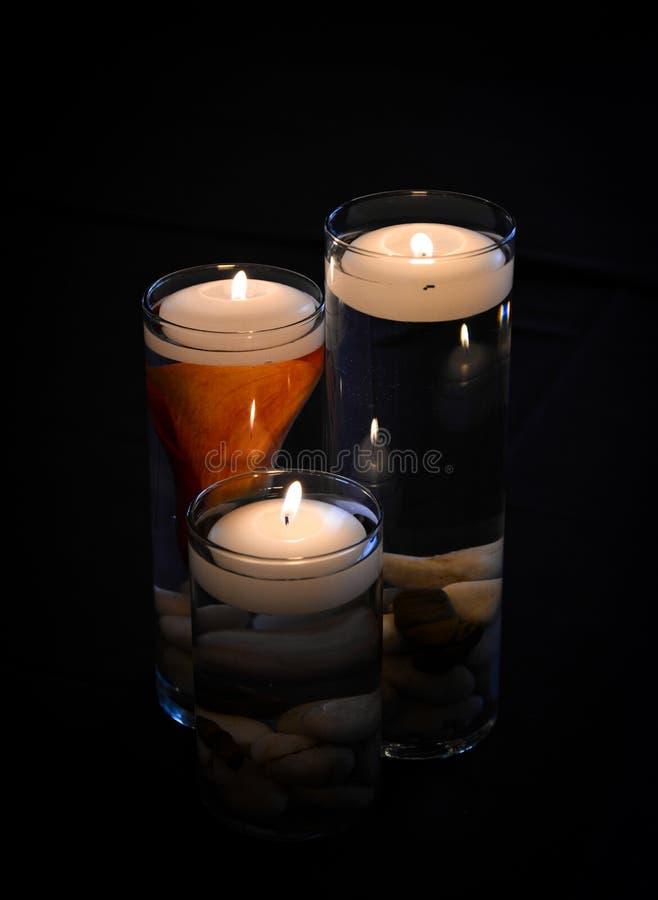 浮动蜡烛 免版税库存图片