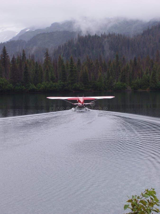 浮动飞机 免版税库存照片