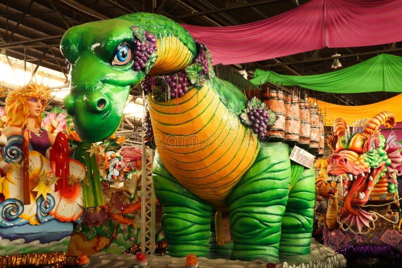浮动gras mardi游行 库存图片