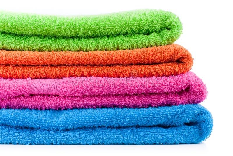 浴五颜六色的毛巾 图库摄影