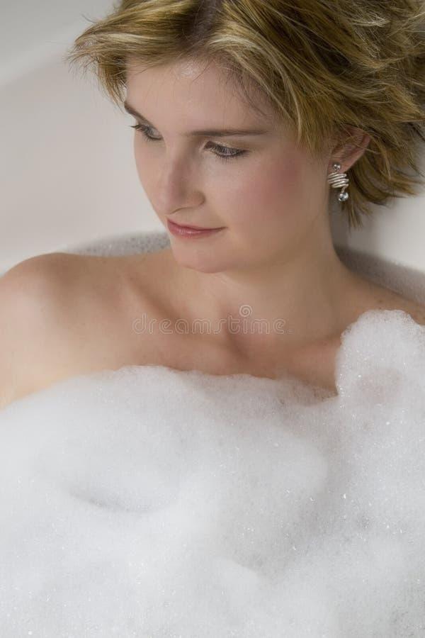 浴女孩 免版税库存图片