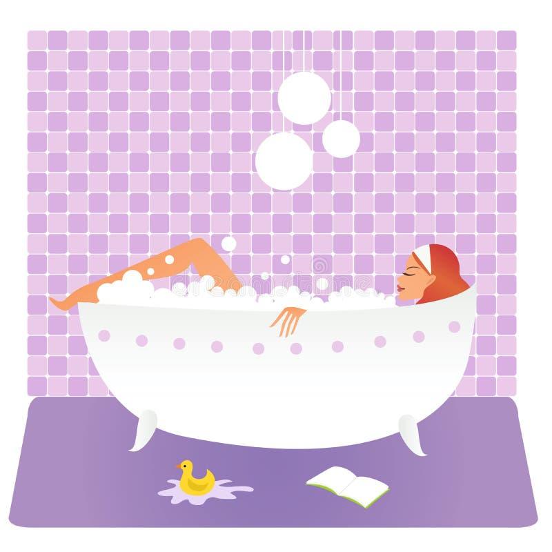 浴妇女 向量例证