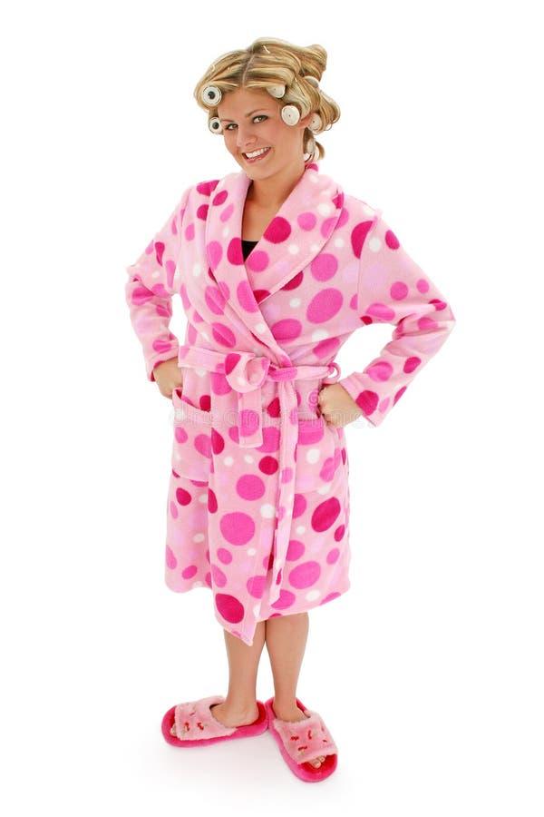 浴巾金发碧眼的女人妇女 库存图片