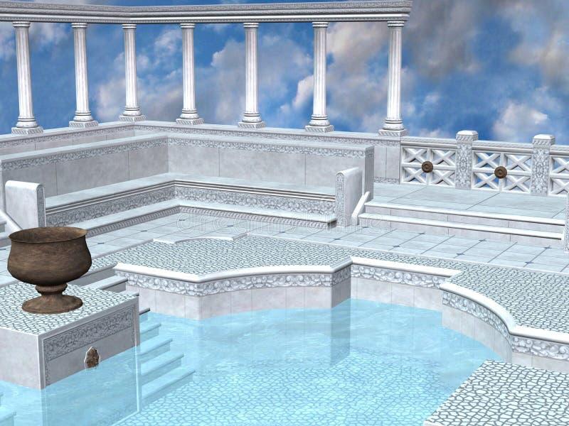 浴希腊 向量例证