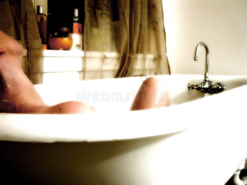 浴晚上 免版税库存照片