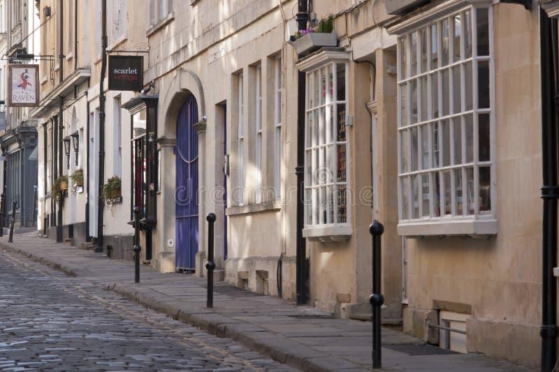 浴有历史的街道 免版税库存图片