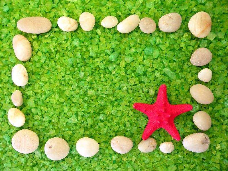 浴框架盐石头 免版税图库摄影