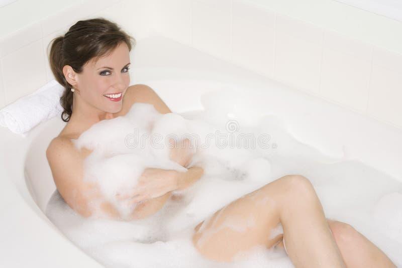 浴泡影 库存照片