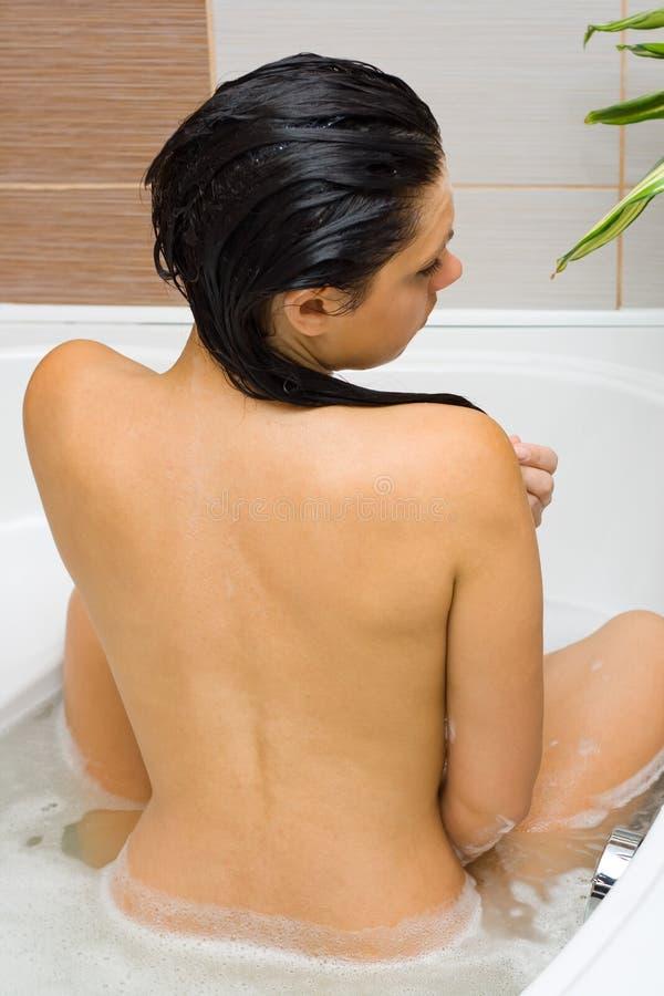 浴泡沫 库存照片