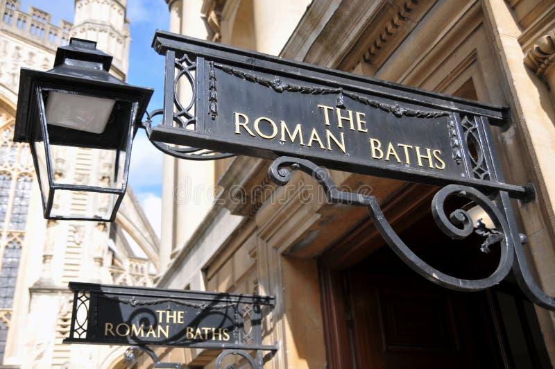 浴浴英国入口著名罗马 图库摄影
