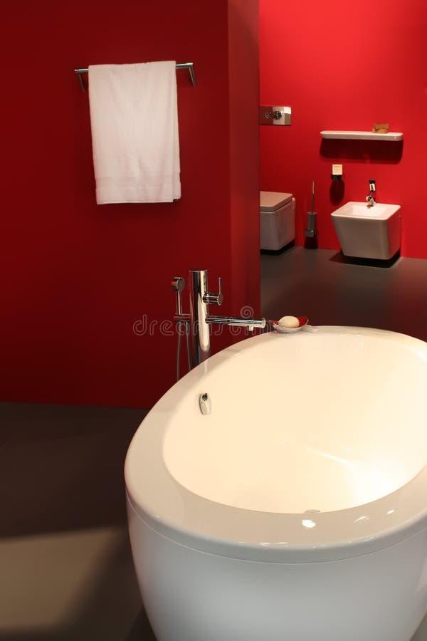浴红色空间 库存照片