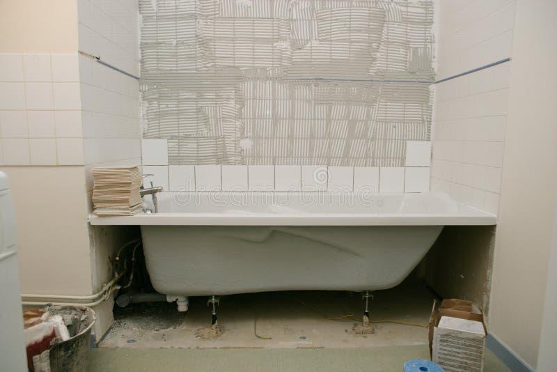 浴缸整修 库存图片