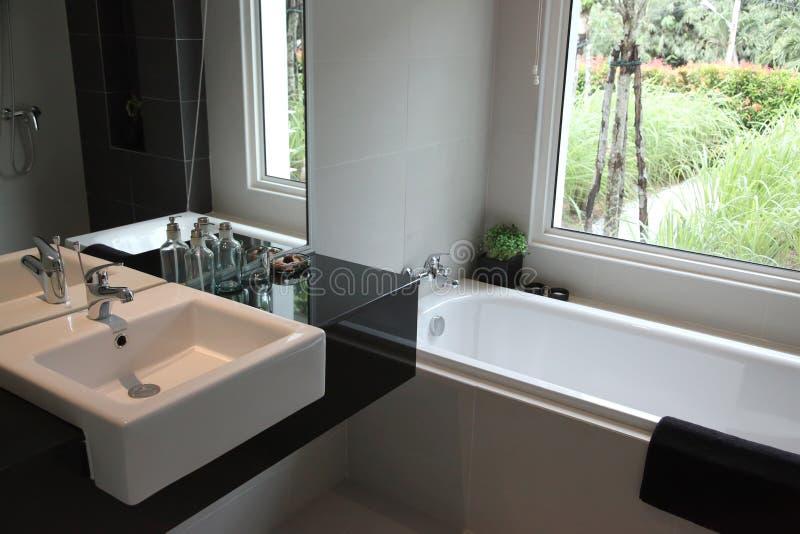 浴缸水槽 库存照片
